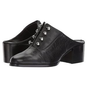 Rebecca Minkoff Everly Black Leather Tuxedo Mule